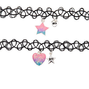 Best Friends Cosmic Ombre Tattoo Choker Necklaces - 2 Pack,