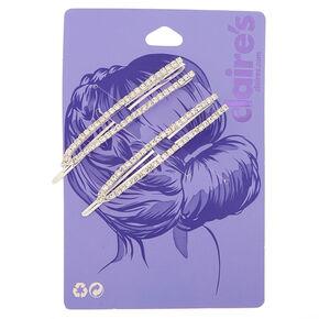 Silver Rhinestone Open Hair Pins - 2 Pack,