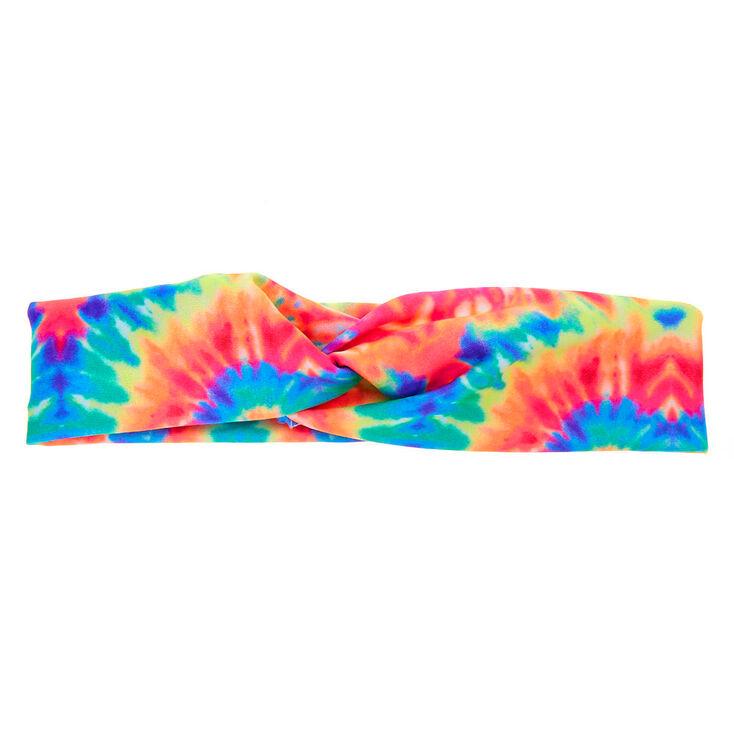 Neon Tie Dye Twisted Headwrap,