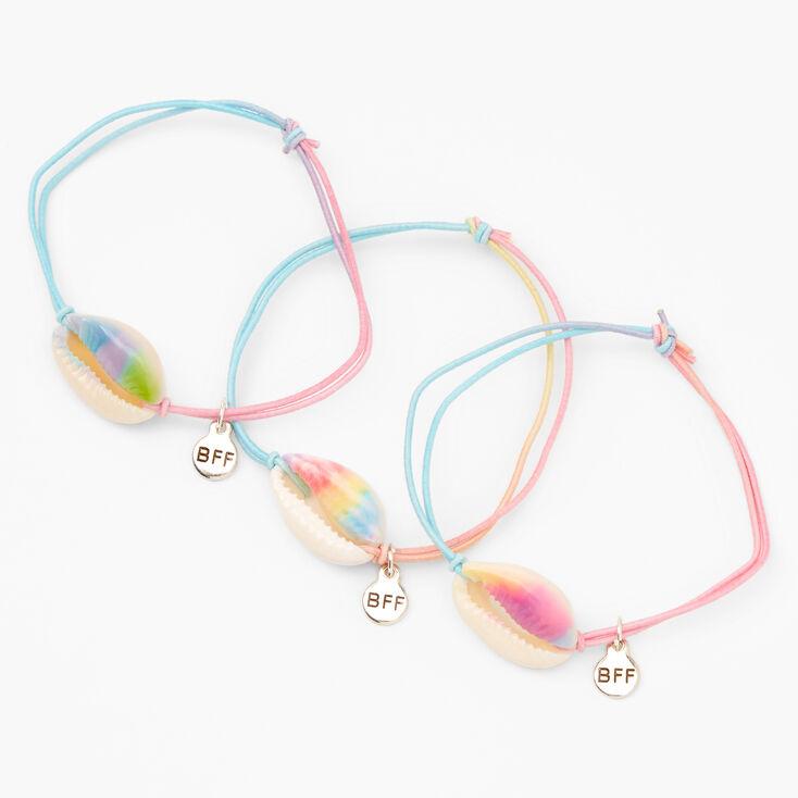 Tie-Dye Cowrie Shell Best Friends Bracelets - 3 Pack,