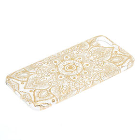 Metallic Gold Mandala Phone Case - Fits iPhone 6/7/8/SE,