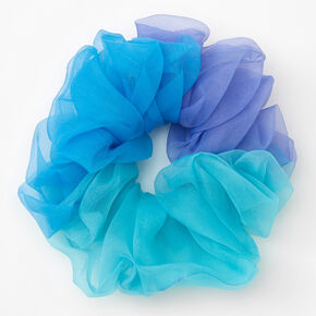 Giant Seaside Ombre Hair Scrunchie,