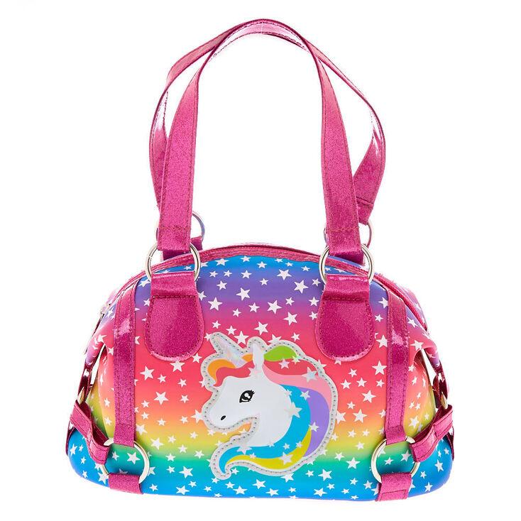 Claire's Club Rainbow Unicorn Tote Bag,