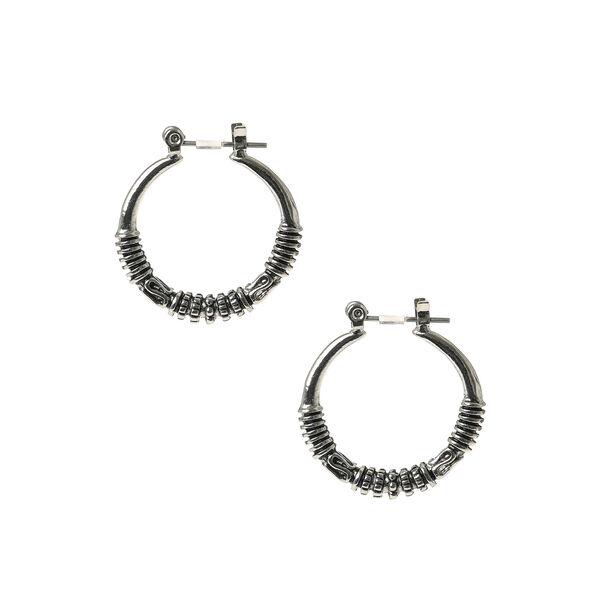 Claire's - hematite 25mm bali hoop earrings - 1