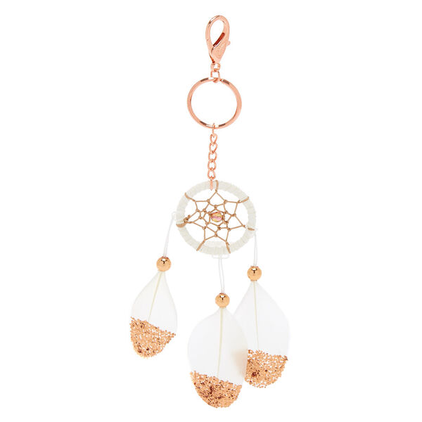 Claire's - dreamcatcher feather keyring - 1