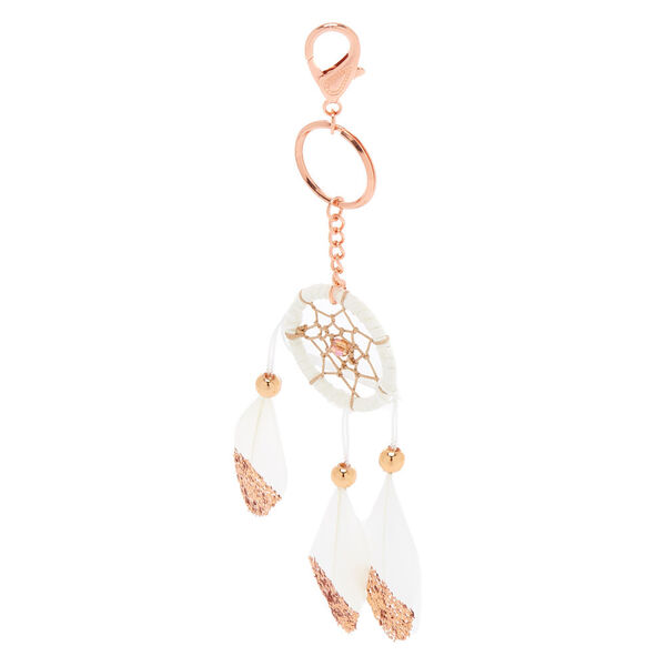 Claire's - dreamcatcher feather keyring - 2