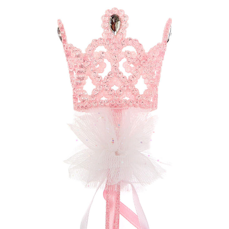 Claire's Club Crown Princess Wand - Pink,