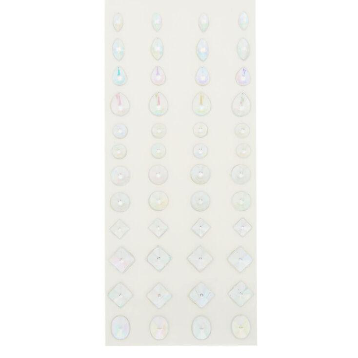 Lot de 48 bijoux de peau irisés couleur argenté,