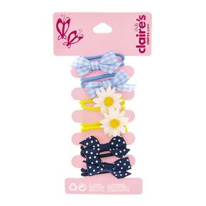 Claire's Club Bow Hair Bobbles - 6 Pack,