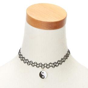 Mood Yin Yang Tattoo Choker Necklace,