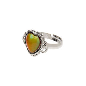 Silver Heart Mood Ring,