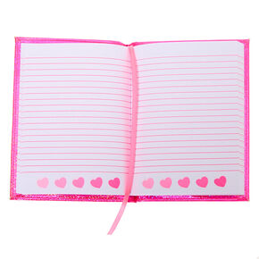 Rainbow Zebra Heart Squish Journal - Pink,