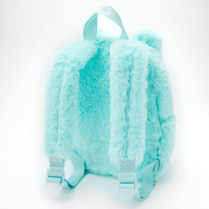 Claire's Club Plush Kitty Small Backpack - Mint,