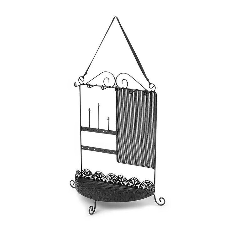 Hanging Jewelry Holder - Black,
