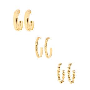 Demi-créoles torsadées couleur dorées,