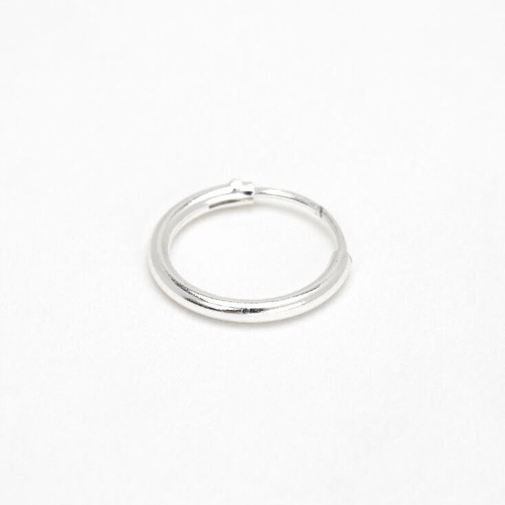 Sterling Silver 22G 10MM Hinged Nose Ring,