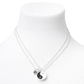 Best Friends Yin Yang Split Pendant Necklaces - 2 Pack,