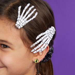 Skeleton Hand Hair Clips - 2 Pack,