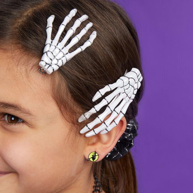 Skeleton Hand Hair Clips - 2 Pack,