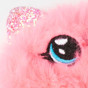 Medium Faux Fur Cat Hair Scrunchie - Pink,