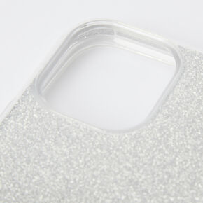 Silver Glitter Protective Phone Case - Fits iPhone 11 Pro Max,