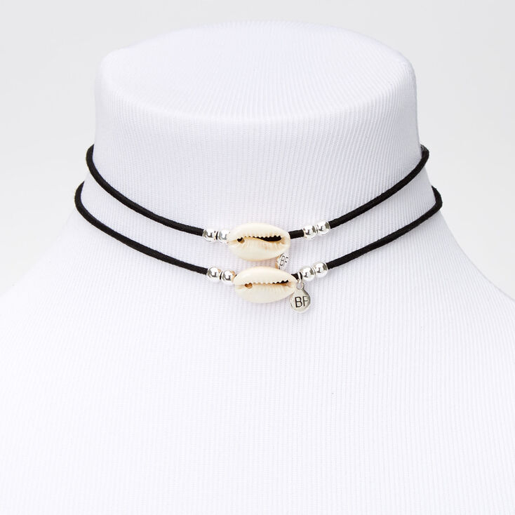Best Friends Cowrie Shell Cord Choker Necklaces - 2 Pack,