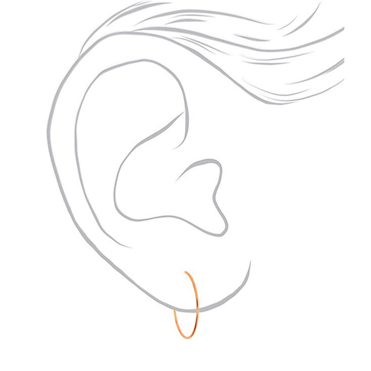 18kt Rose Gold Plated 30MM Sleek Hoop Earrings,