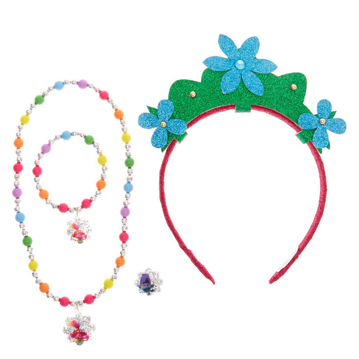 Trolls World Tour Headband and Jewellery Set – 4 Pack,