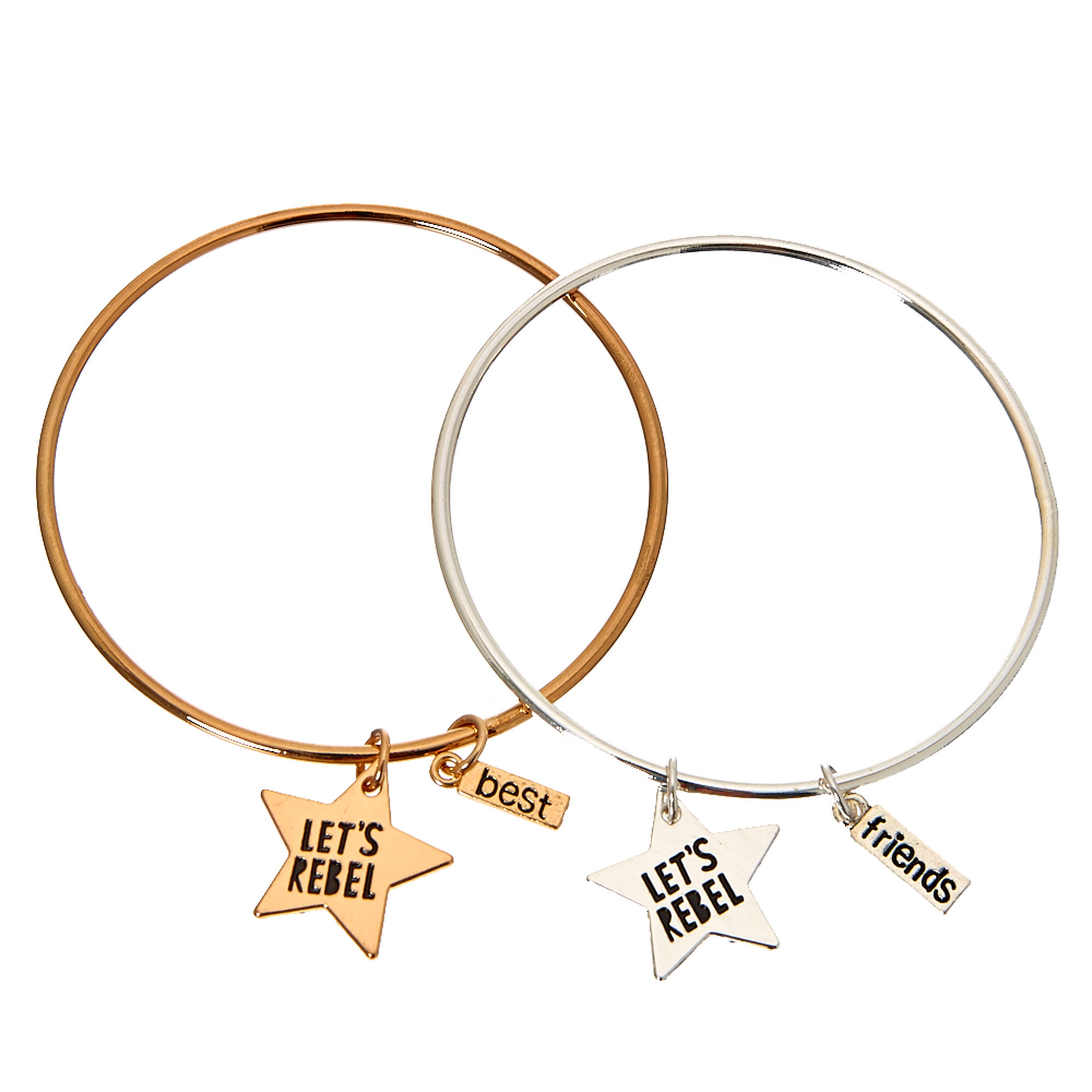Best friends gold and silver lets rebel star pendant bracelets best friends gold and silver let39s rebel star pendant bracelets aloadofball Gallery