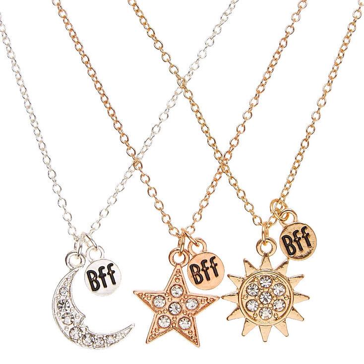 Best friends celestial pendants necklaces claires us best friends celestial pendants necklaces aloadofball Gallery