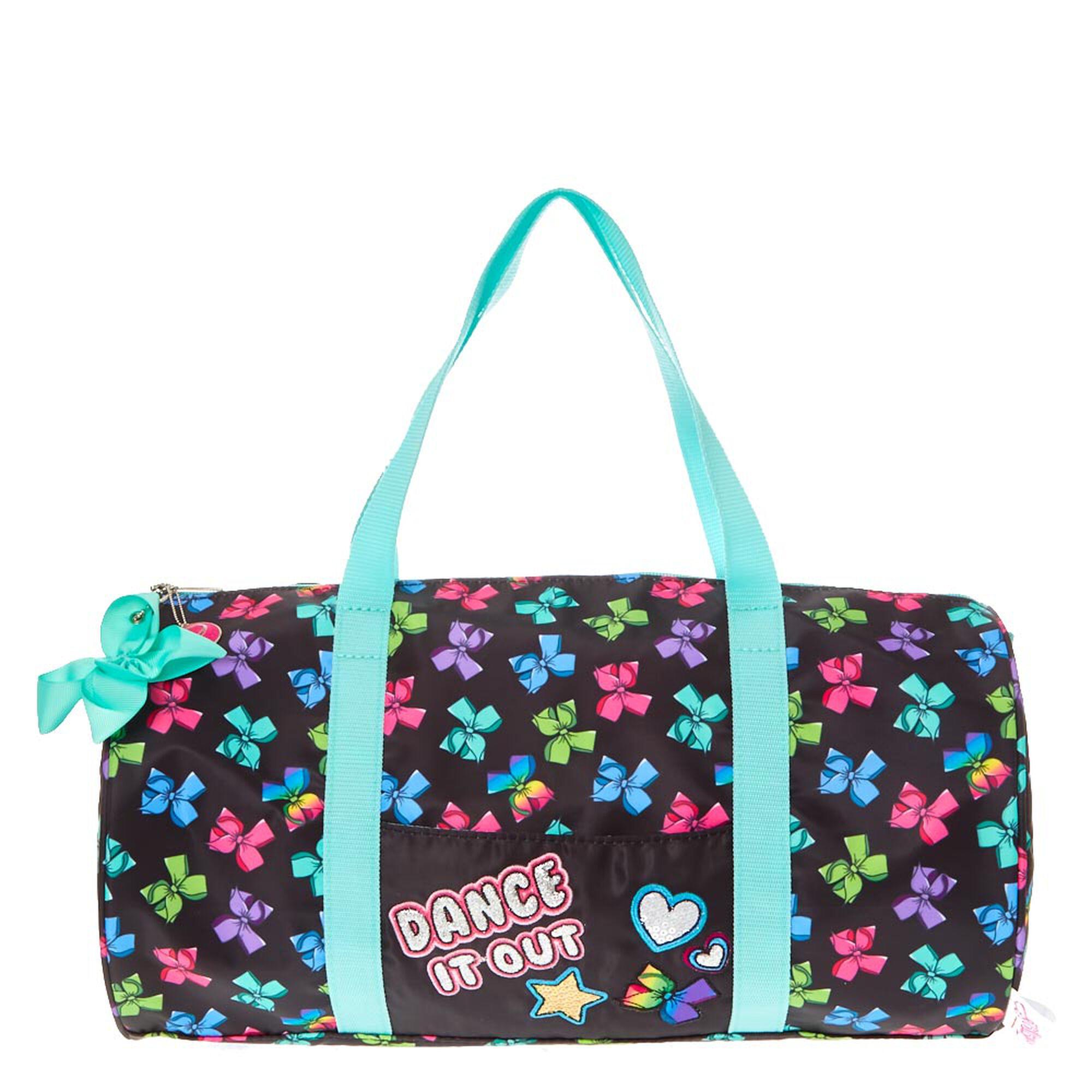 jojo siwa rainbow bow duffel bag claire 39 s us. Black Bedroom Furniture Sets. Home Design Ideas