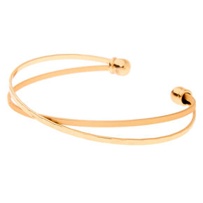 Gold Criss Cross Cuff Bracelet,