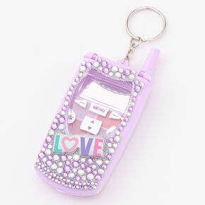 Love Flip Phone Bling Lip Gloss Set - Purple,