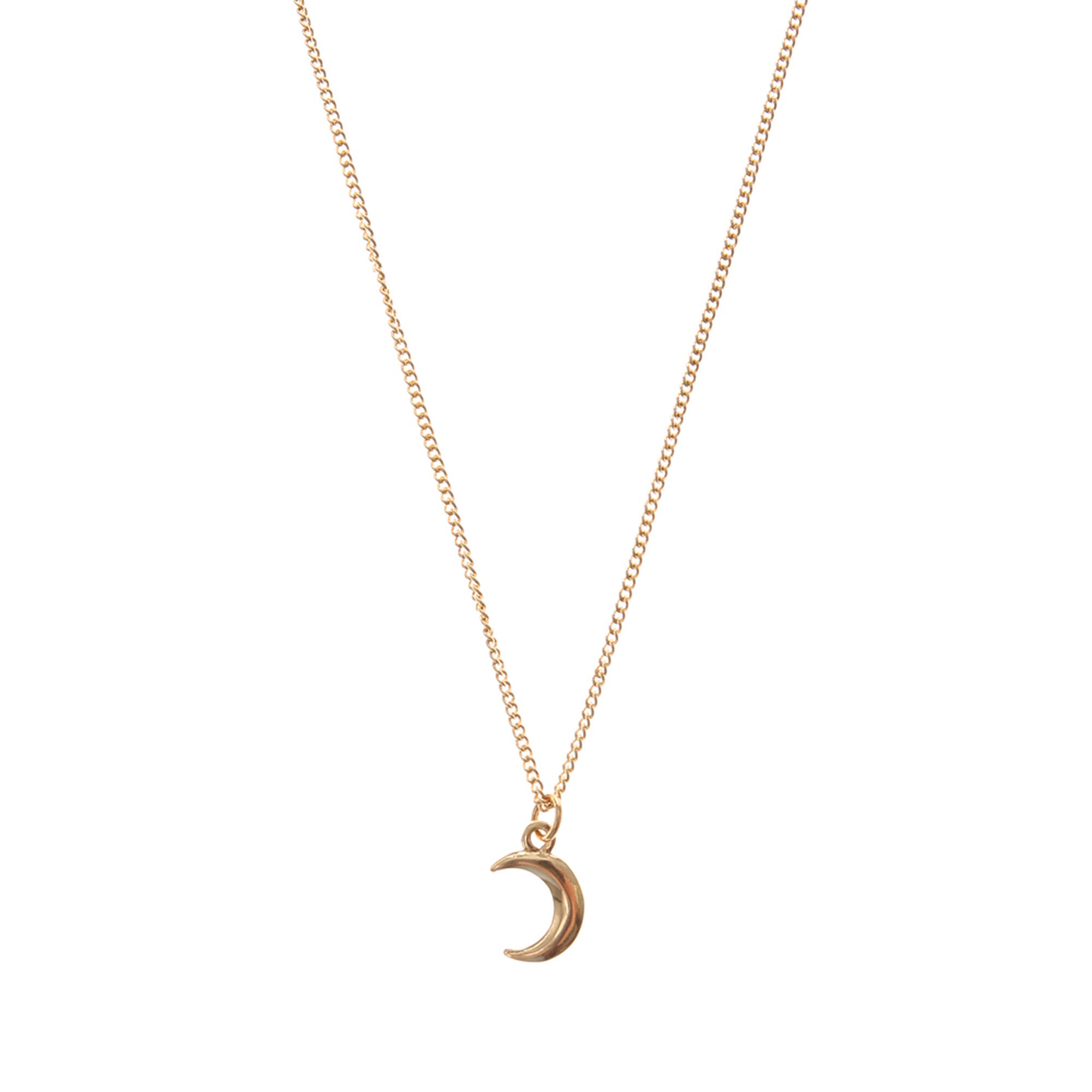 new moon sterling half necklace pendant listing il fullxfull silver