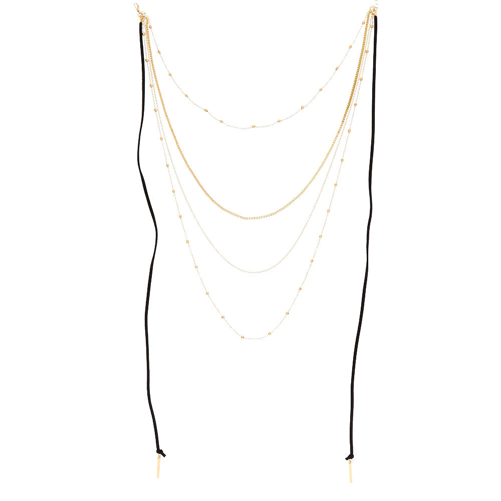A 4 Strand Gold Chain Multi Grip Hair Chain