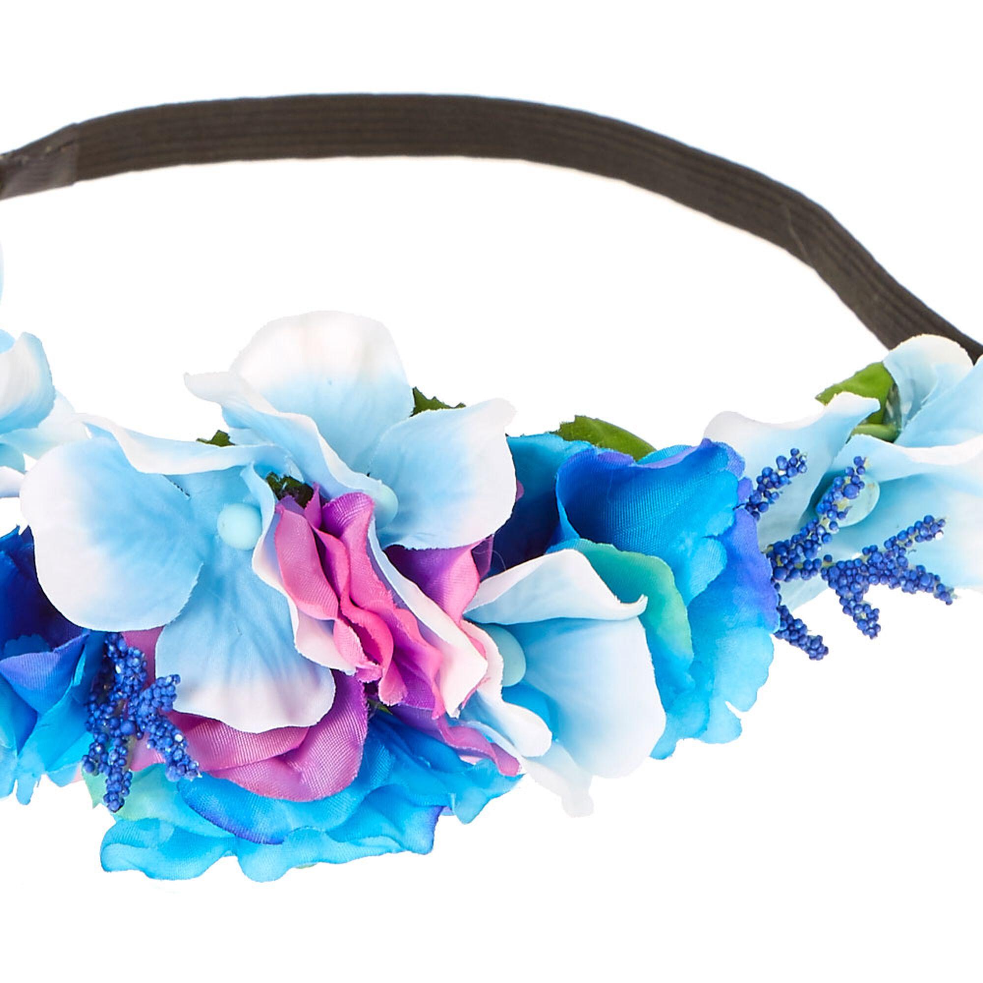 Purple pink blue pastel flower crown claires us purple pink amp blue pastel flower crown izmirmasajfo