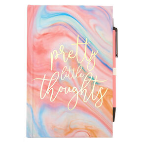Pretty Little Thoughts Marble Mini Journal - Pink,