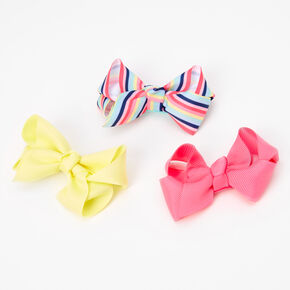 Claire's Club Loopy Ribbon Hair Bow Clips - 3 Pack,