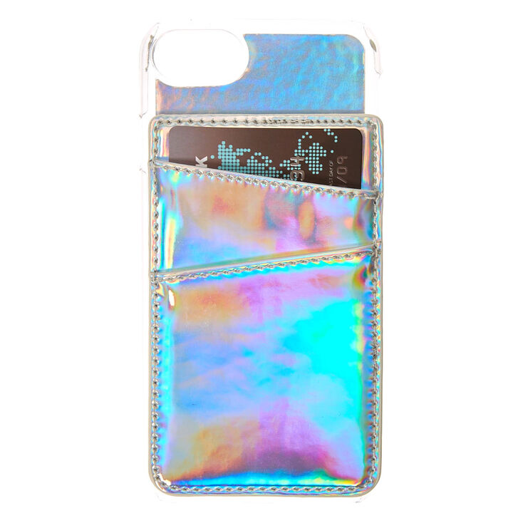 Phone Card Holder >> Holographic Card Holder Phone Case Claire S Us