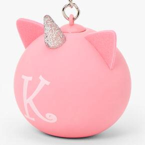 Initial Unicorn Stress Ball Keyring - Pink, K,
