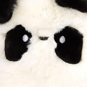 Sac à bandoulière panda en fausse fourrure - Blanc,