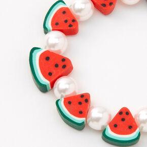 Watermelon Slices Beaded Stretch Bracelet,