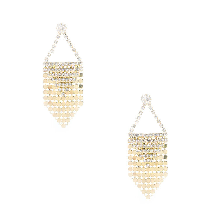 Disco Gold Fringe Earrings