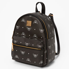 Love Angel Wings Small Backpack - Black,