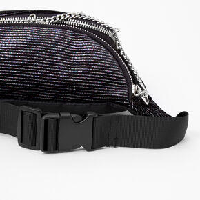 Pinstripe Love Chain Bum Bag - Black,