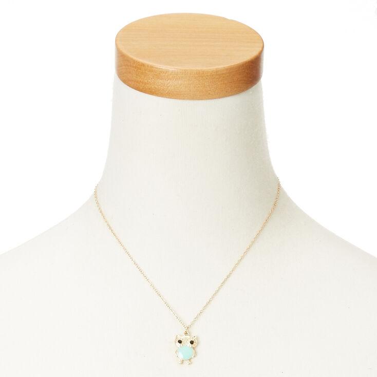 Mint Owl Necklace,