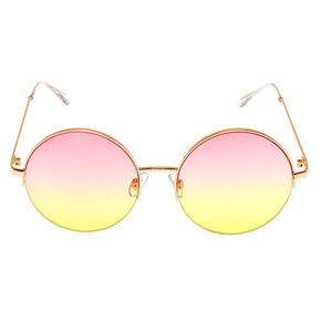Sherbet Tinted Round Sunglasses,
