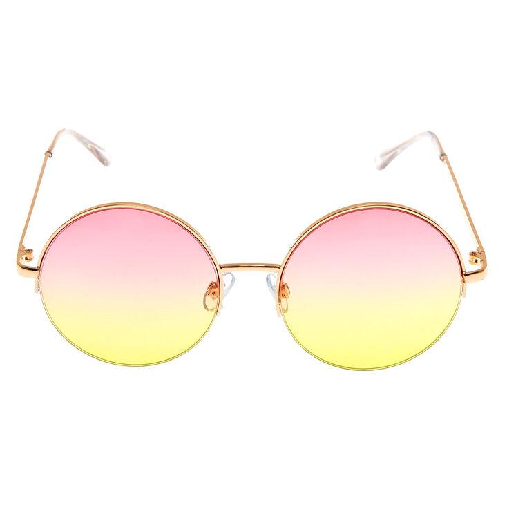 Sherbet Tinted Round Sunglasses,