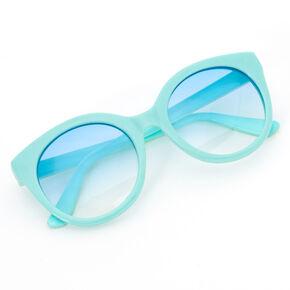 Cloud Print Rounded Mod Sunglasses - Mint,