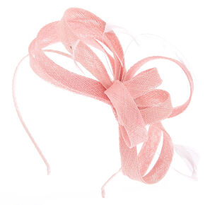 1e7ca072533a1 Feather Bow Fascinator Headband - Pink
